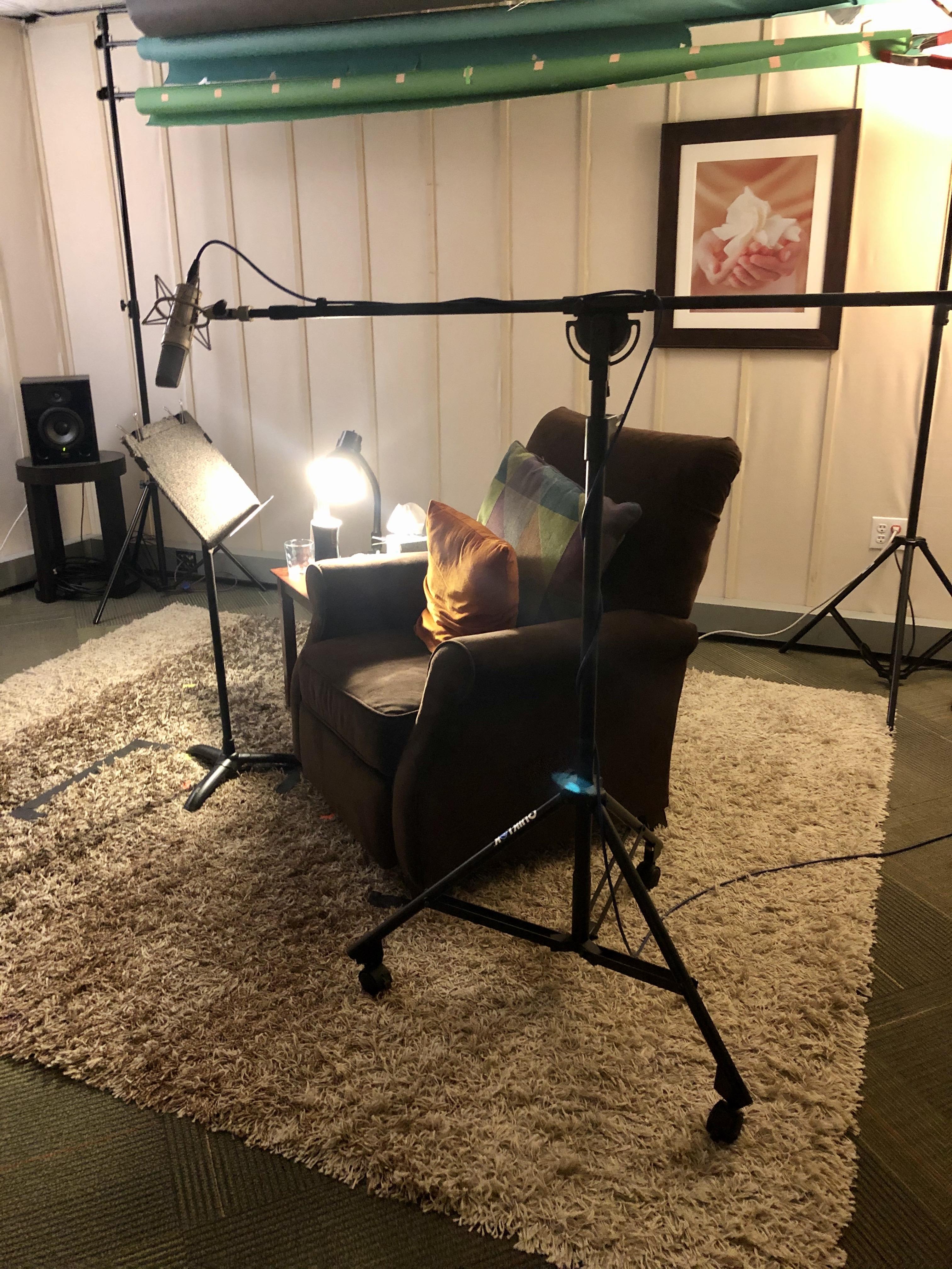 The audiobook recording room.