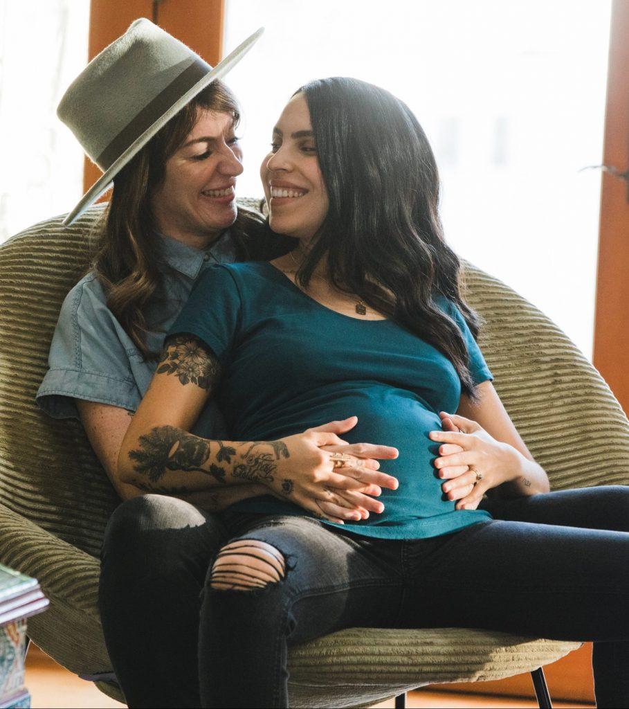 LGBTQ pregnant couple